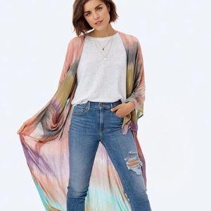 LoveStitch Pandora Tie Dye Maxi Kimono